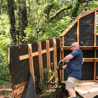 TAKING DOWN THE SHED