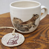 squirrel cup & fox ornament