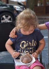 A girl & her ice cream
