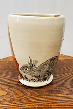 vase with tree & bunny
