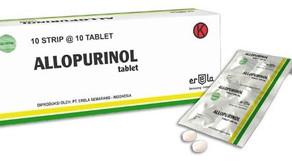 가장 널리 쓰이는 요산생성 억제제 알로푸리놀