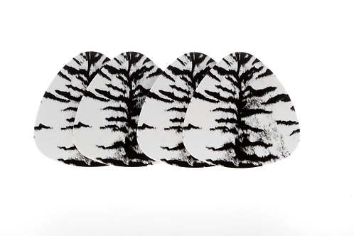 WILDLIFE - GLASUNDERLÄGG TIGER 4-PACK