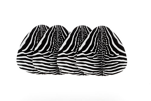 WILDLIFE - GLASUNDERLÄGG ZEBRA 4-PACK