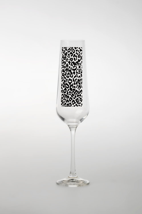 WILDLIFE - CHAMPAGNEGLAS LEOPARD 2-PACK