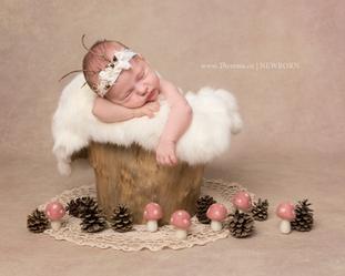 Forest newborn girl