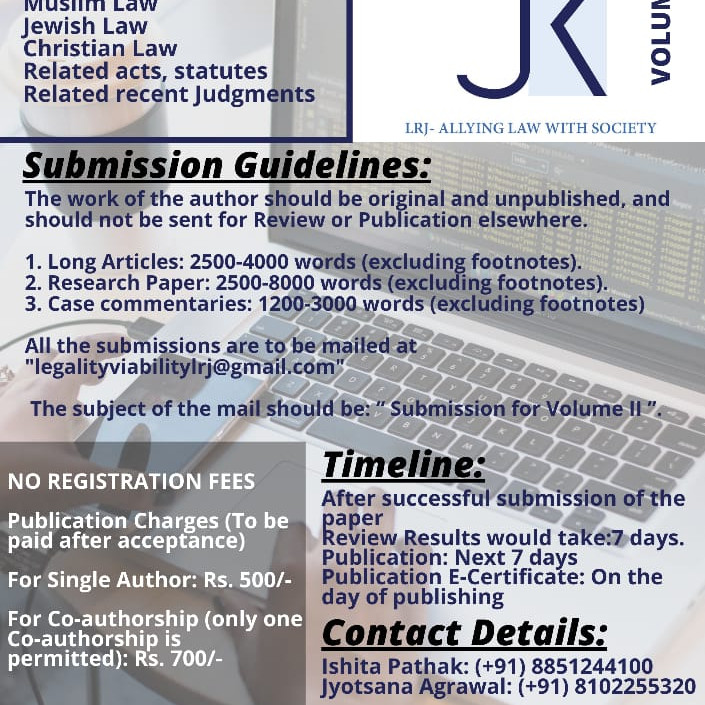 LAW RESEARCH JOURNAL VOLUME 1 | ISSUE 2