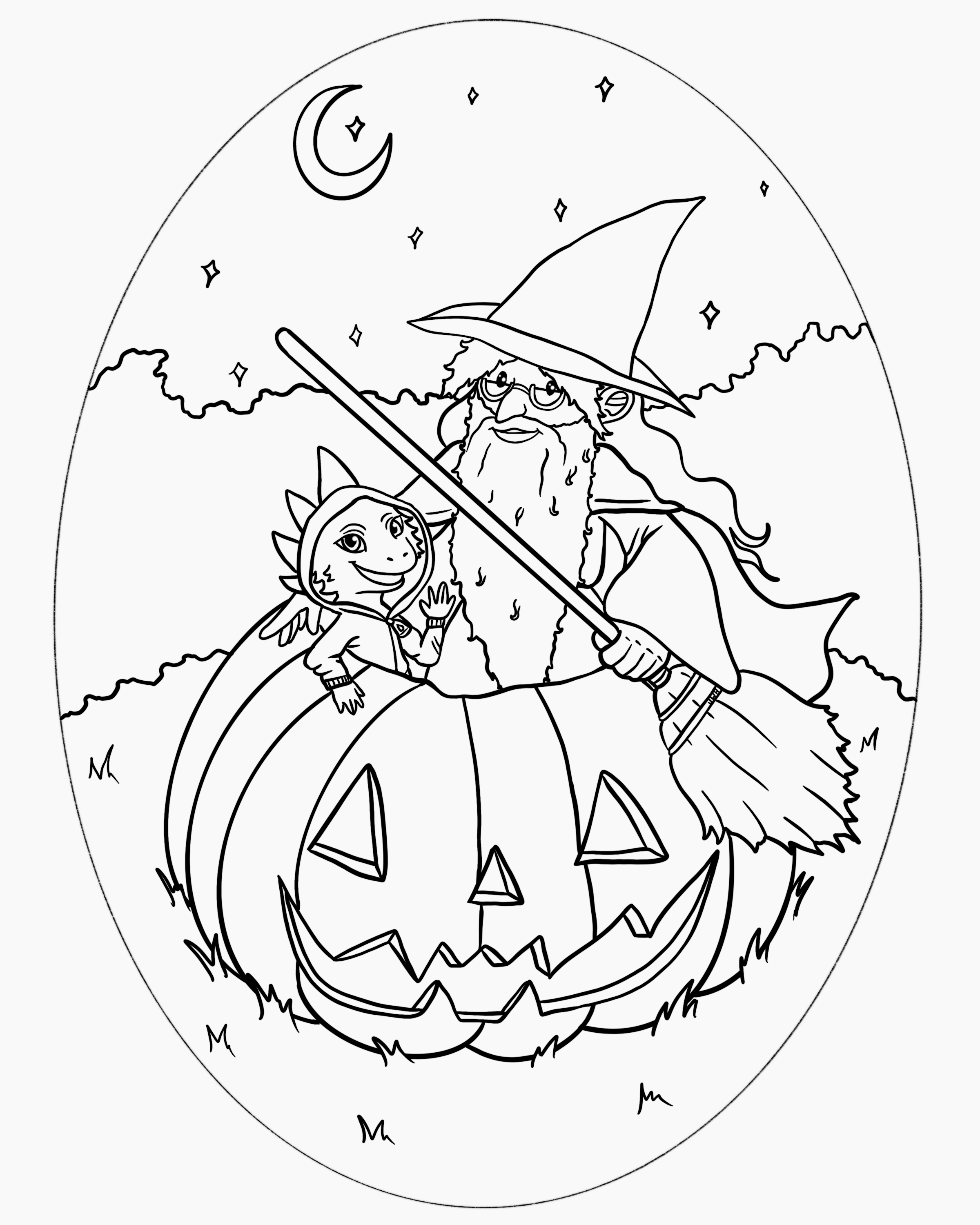 Halloween W&L Coloring Sheet