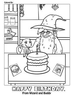 Birthday Coloing Sheet 1