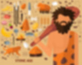 stone-age-concept-background-flat-icons_