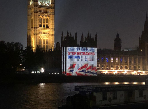 National Guerrilla Projection Campaign, British Airways