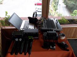 microfonos y consola