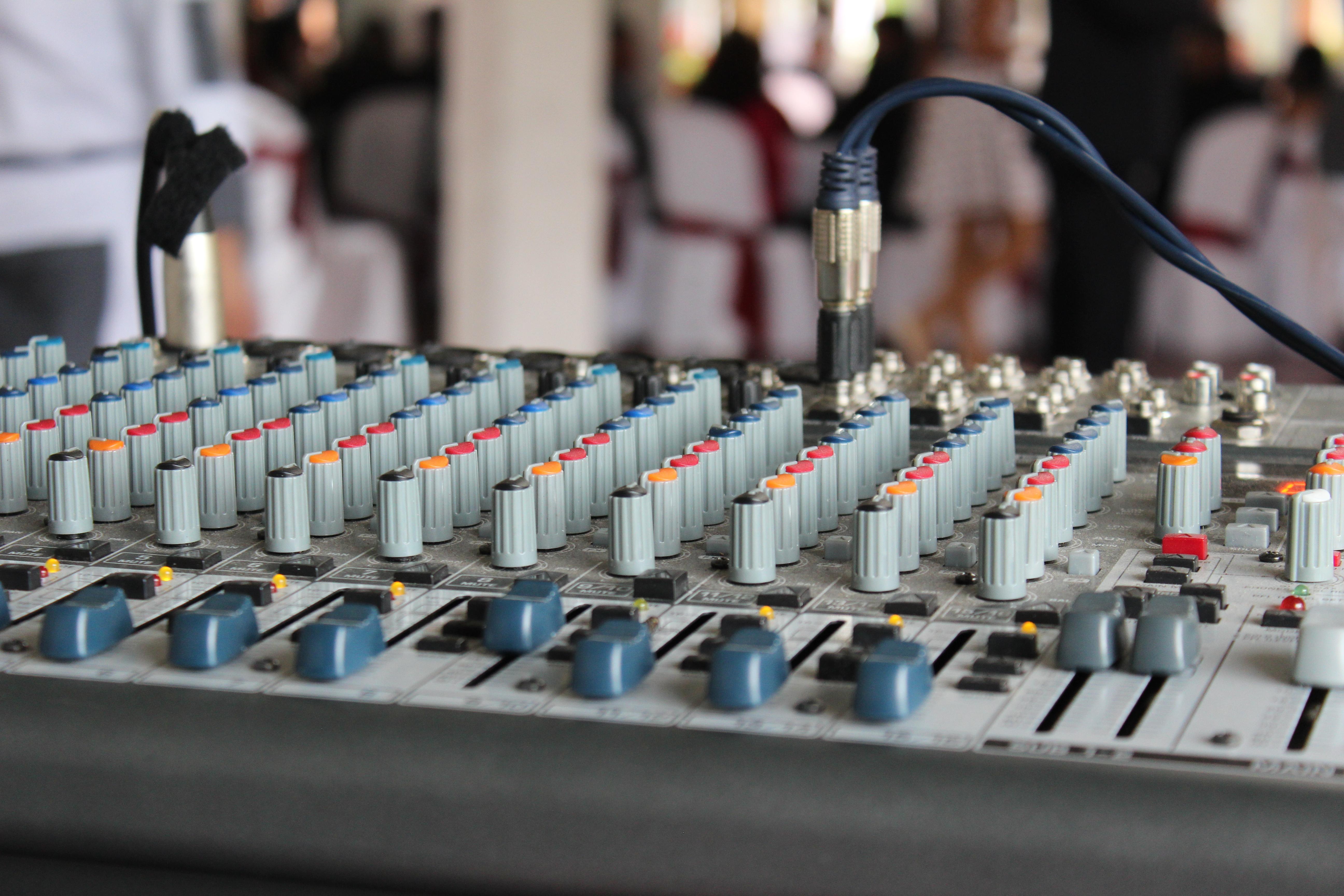 consola de microfonos