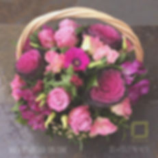 Корзина с цветами. Цветы на 8 марта спб.
