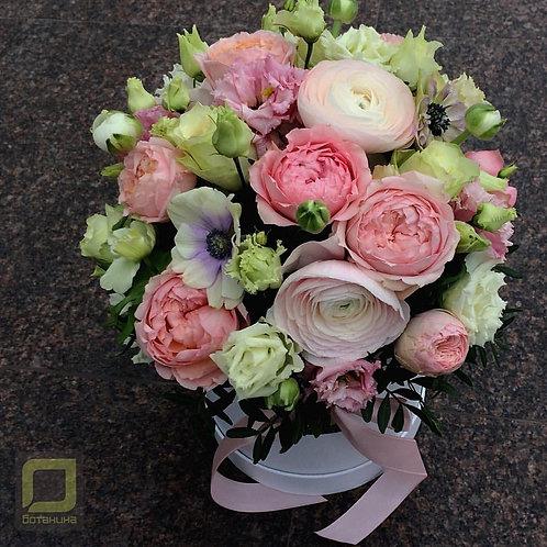 Нежный букет в розовых тонах. 107