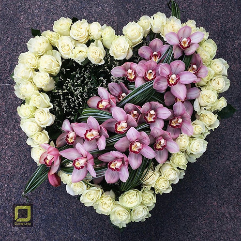 Цветочное сердце. 145.