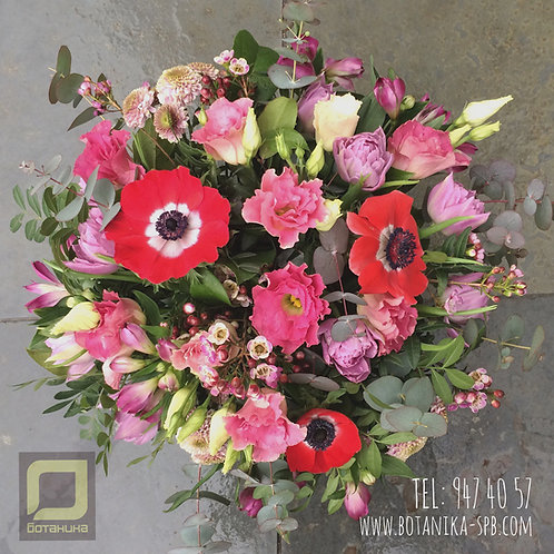 Букет с тюльпанами и анемонами. 028