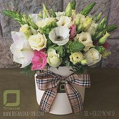 Цветы в коробке. Букна 8 марта спб.