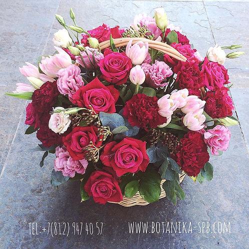 Корзина цветов. 027