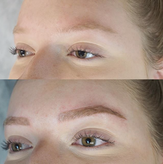 Natural microblading on a blonde clinet