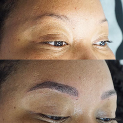 Full Microblading on an african american client