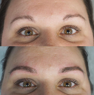 Medium brown microblading