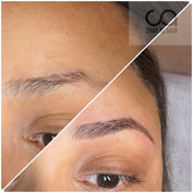 Natural microblading on a hispanic client