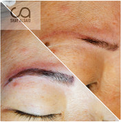 Full microblading on an asian client