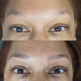 Natural Microblading on an african american client