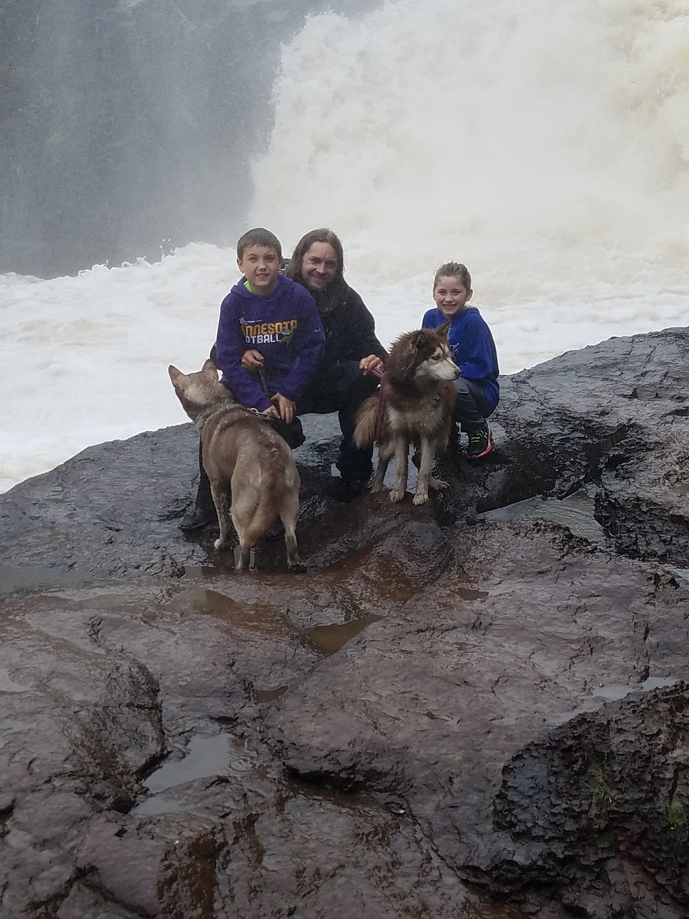 Devil's Kettle-Cold and wet from the rain only to stand under the falls