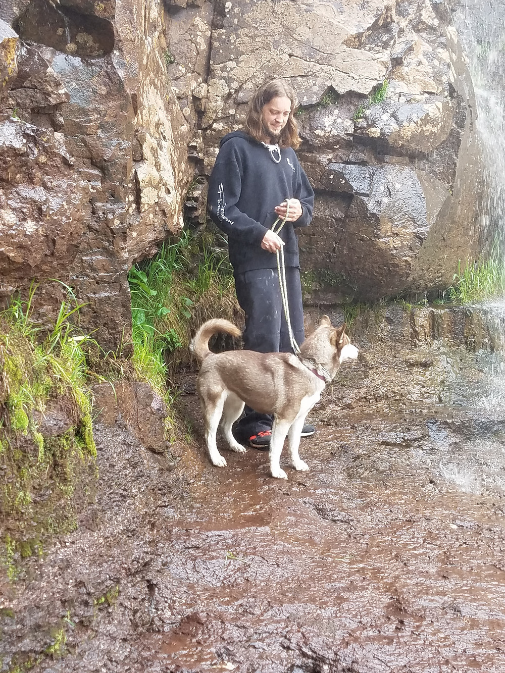 Mikko checking out the falls at Gooseberry