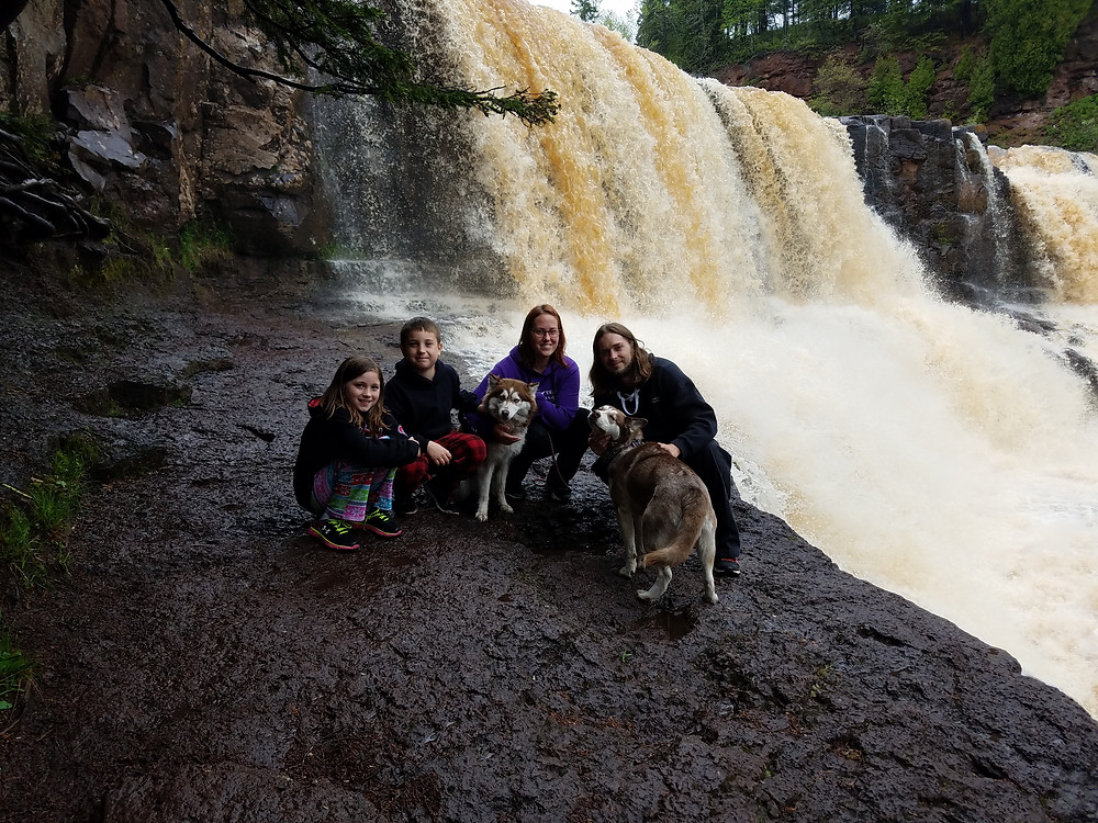 Gooseberry Falls-Our First family photo