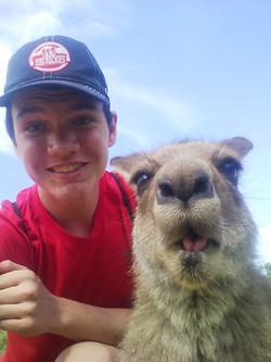 Gavin and kangaroo