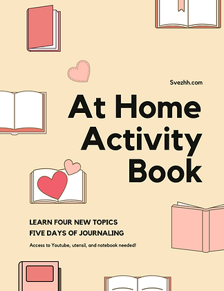 AT HOME ACTIVITY BOOK