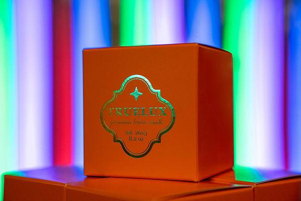 Orange Truelux Box over Neon Lights