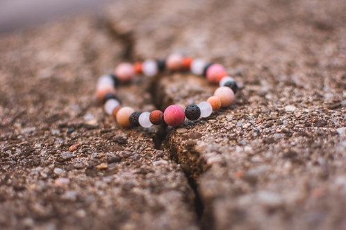 Rhodonite & Lava Bead Bracelet