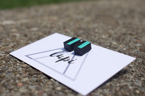Black & Teal Rectangle Semi