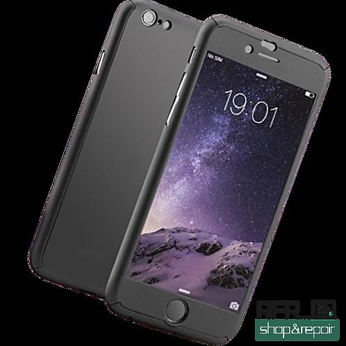 360° Hard Case Hülle für iPhone 7 / 8 SCHWARZ