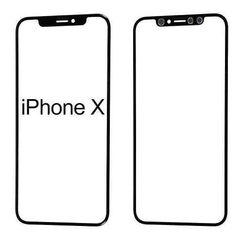 iPhone X / XS Frontglas Ersatzglas SCHWARZ