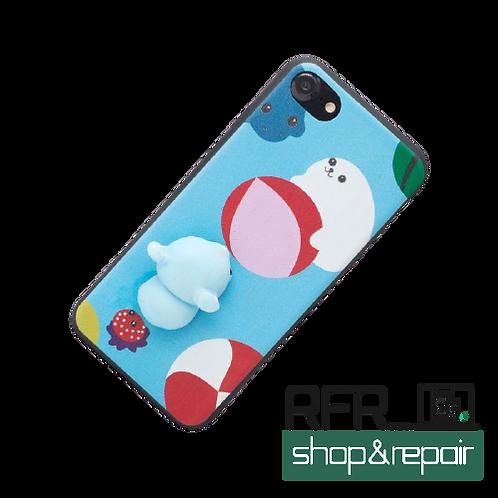 3D Squishy Robbe für iPhone 7/8 X/XS