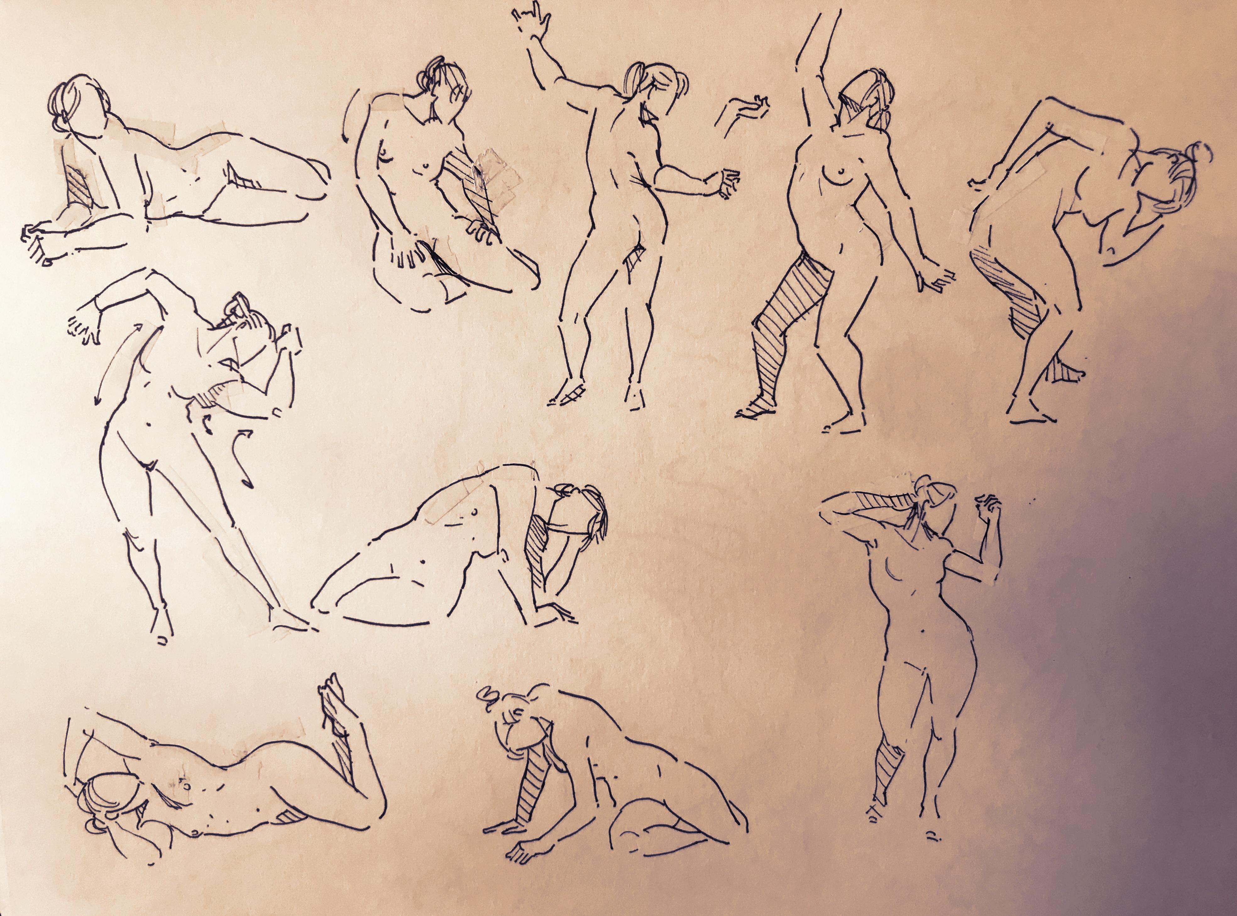 1 minute women Poses
