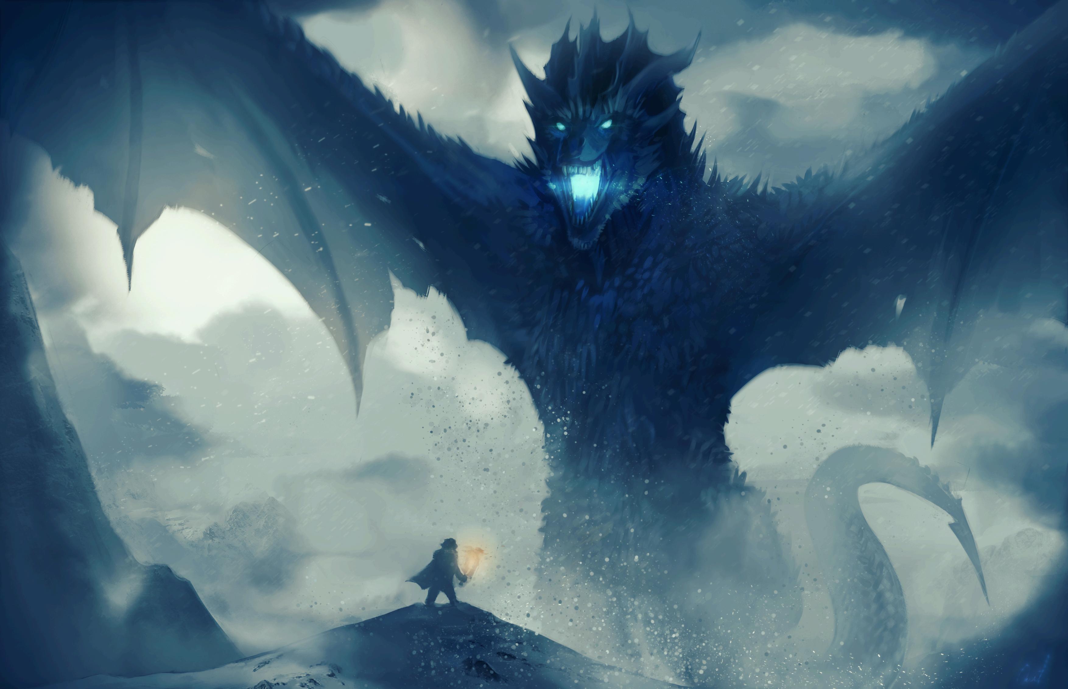 Dead Viserion against Jon Snow