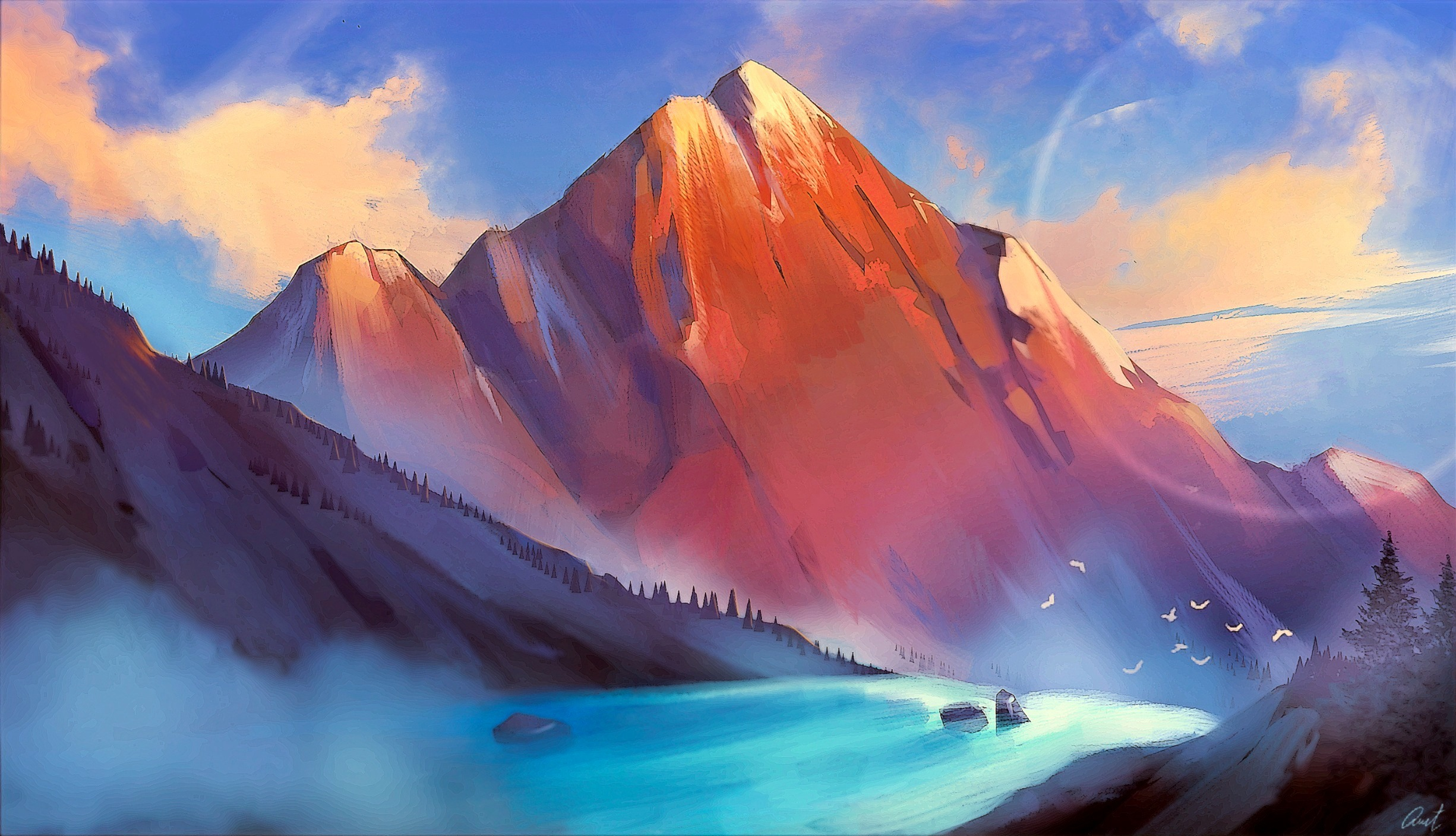 Sketching Snow Mountain