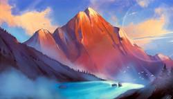 Sketching Snow Mountain