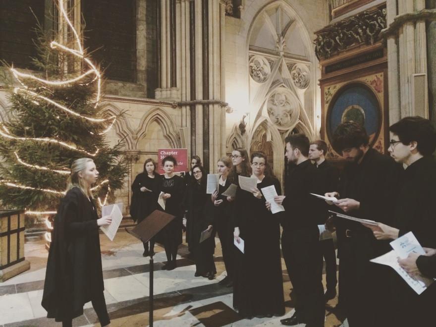 Pembroke Choir singing in York Minster