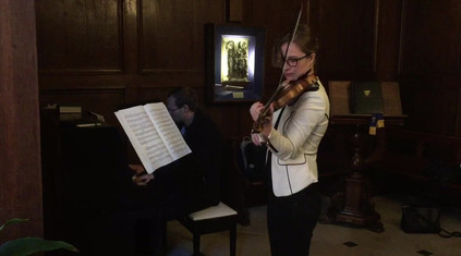 Pia and Andreas rehearsing Brahms