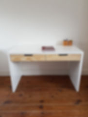 Slimline Desk white and pine drawers.jpg