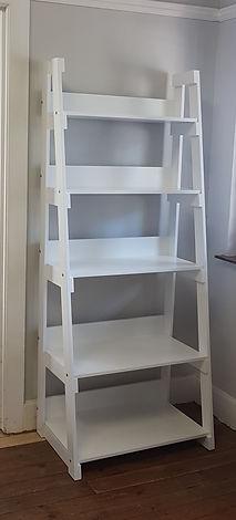 Ladder Bookshelf white duco in satin fin
