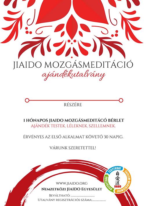 Ajándék JIAIDO mozgásmeditáció bérlet