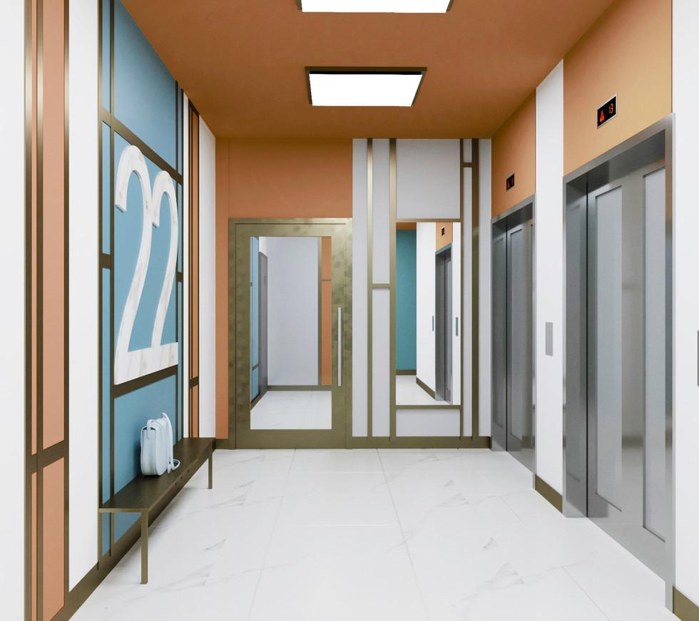 Лифтовой холл типового этажа