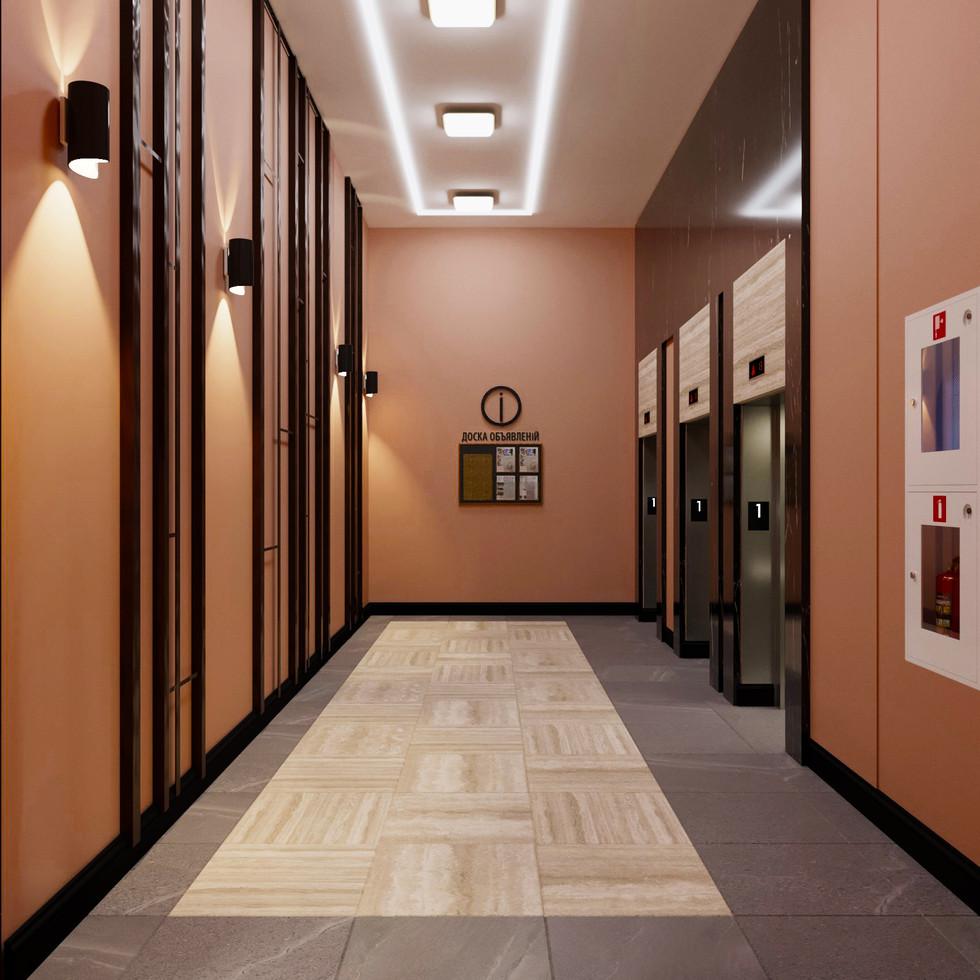 Лифтовой холл 1-го этажа